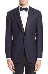 Men's Big And Tall Armani Collezioni Trim Fit Wool Dinner Jacket Navy