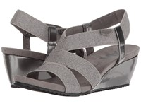 Anne Klein Cabrini Pewter Pewter Fabric Wedge Shoes