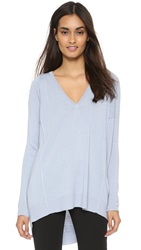 Tess Giberson Oversized V Neck Sweater Glacier