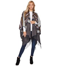 San Diego Hat Company Bsp3540 Poncho With Fringe Grey Women's Clothing Gray