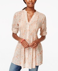 American Rag Printed Pintucked Button Front Camp Shirt Only At Macy's Surprise Floral