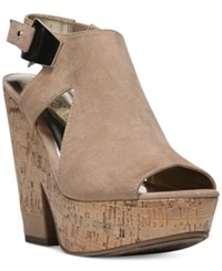 Carlos By Carlos Santana Bristol Platform Wedge Sandals Women's Shoes Brulee
