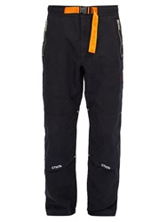 Heron Preston Embroidered Cotton Blend Trousers Black