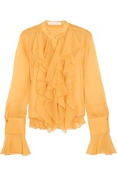 See By Chloe Ruffled Crepon Blouse Marigold