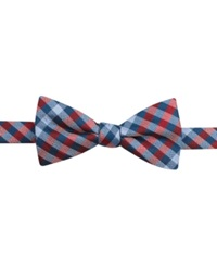Countess Mara Multi Gingham Pre Tied Bow Tie Red