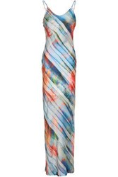 Kain Label Printed Satin Maxi Dress Multicolor