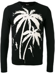N 21 No21 Frayed Palm Jumper Men Cotton M Black