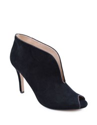 Adrienne Vittadini Grandeur Open Toe Slip On Shooties Black