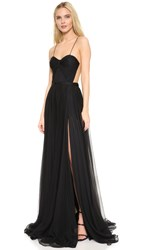 Maria Lucia Hohan Sheer Back Gown Black