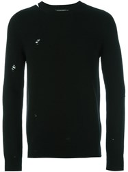 Alexander Mcqueen Distressed Jumper Black