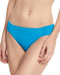 Lablanca Island Goddess Shirred Side Hipster Swim Bikini Bottom Light Blue