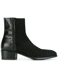 Raparo Low Block Heel Ankle Boots Black
