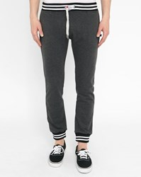 Sweet Pants Mottled Black Terry Strip Joggers