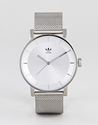 Adidas Z04 District Mesh Watch In Silver