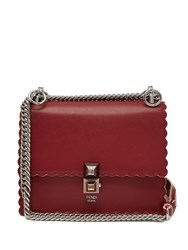 Fendi Kan I Small Leather Cross Body Bag Red