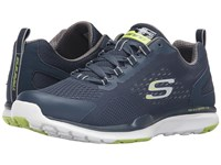 Skechers Quick Shift Tr Navy Lime Men's Lace Up Casual Shoes Multi