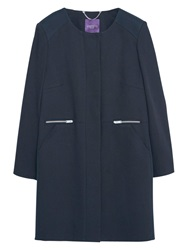 Violeta By Mango Long Cotton Coat Black