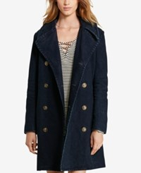 Denim And Supply Ralph Lauren Dobby Pea Coat Denim Black
