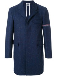 Thom Browne Engineered Stripe Classic Unconstructed Chesterfield Blue