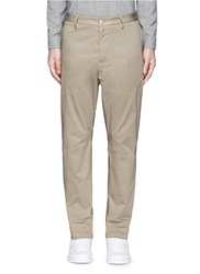 Oamc Contrast Inseam Cotton Chinos Neutral