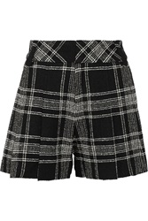 Alice Olivia Plaid Tweed Shorts Gray