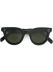 Celine Round Thick Frame Sunglasses Black