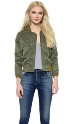 Nlst Shrunken Flight Jacket Olive Drab
