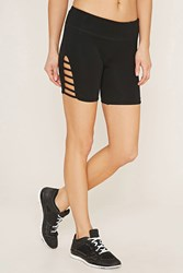 Forever 21 Active Cutout Shorts Black
