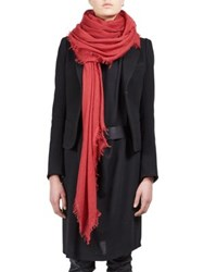 Ann Demeulemeester Cashmere Scarf Red