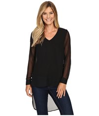 Kut From The Kloth Makayla Black Women's Long Sleeve Pullover