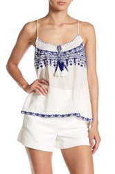Gypsy 05 Embroidered Racerback Cami Blue