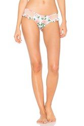 Wildfox Couture Dusty Rose Print Winona Brief Bottom Pink