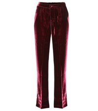 For Restless Sleepers Crono Velvet Trousers Red