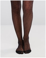 Gipsy Nouvelle Dot Tights Black