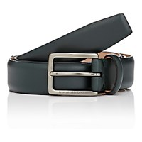Ermenegildo Zegna Men's Leather Belt Dark Green