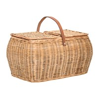 Bloomingville Rattan Picnic Basket With Lid