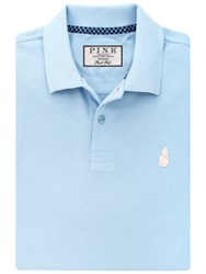 Thomas Pink Warner Plain Polo Shirt Pale Blue