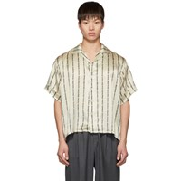 Enfants Riches Deprimes Off White And Black Logo Stripes Shirt