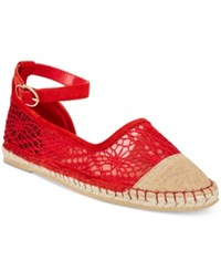Cole Haan Noomi Espadrille Flats Women's Shoes Red