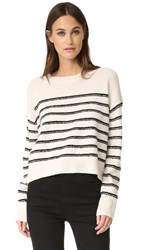 Vince Stripe Pullover Off White Black