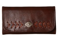 American West Mohave Canyon Trifold Wallet Chestnut Brown Wallet Handbags