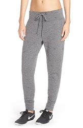 Women's Pink Lotus 'Hip Hop' Quilted Sweatpants Charcoal