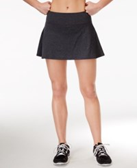 Ideology Spaced Dyed Skort Only At Macy's Charcoal Melange