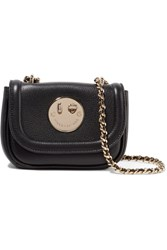 Hill And Friends Happy Tweency Textured Leather Shoulder Bag Black