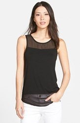 Women's Vince Camuto Sleeveless Mixed Media Top