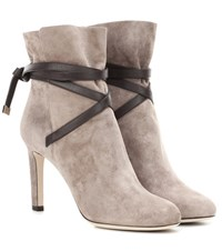 Jimmy Choo Dalal 85 Suede Ankle Boots Brown