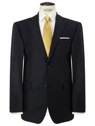 John Lewis Regular Fit Sharkskin Suit Jacket Navy