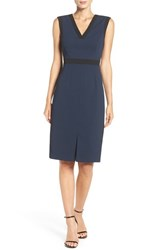 Adrianna Papell Women's Stretch Crepe Sheath Dress