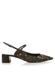 Erdem Aerin Midnight Daisy Sandals