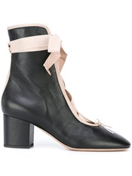 Valentino Lace Up Boots Black